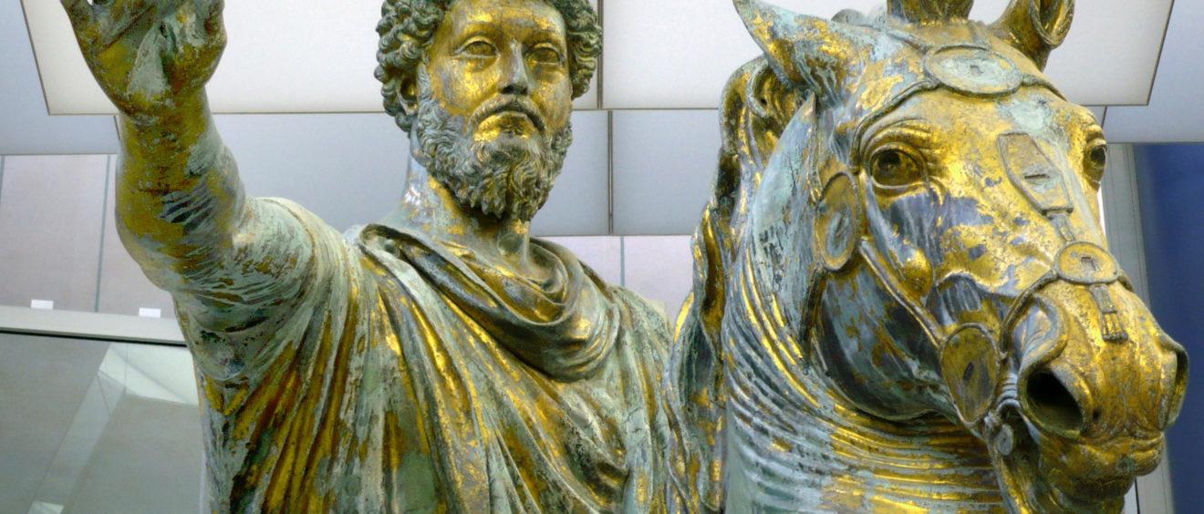 Statut de bronze de Marcus Aurelius. Crédit Zanner.