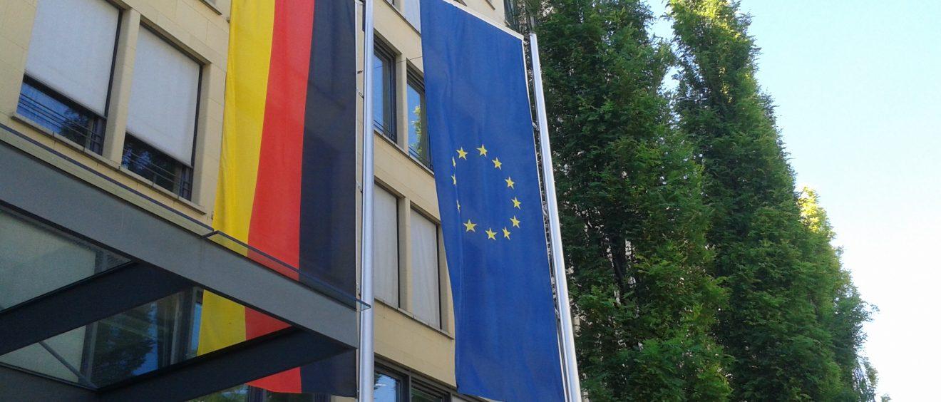 La devanture du centre de conférence économique de Bavière, à Munich. Photo d'illustration. Crédit Alexis Demoment.