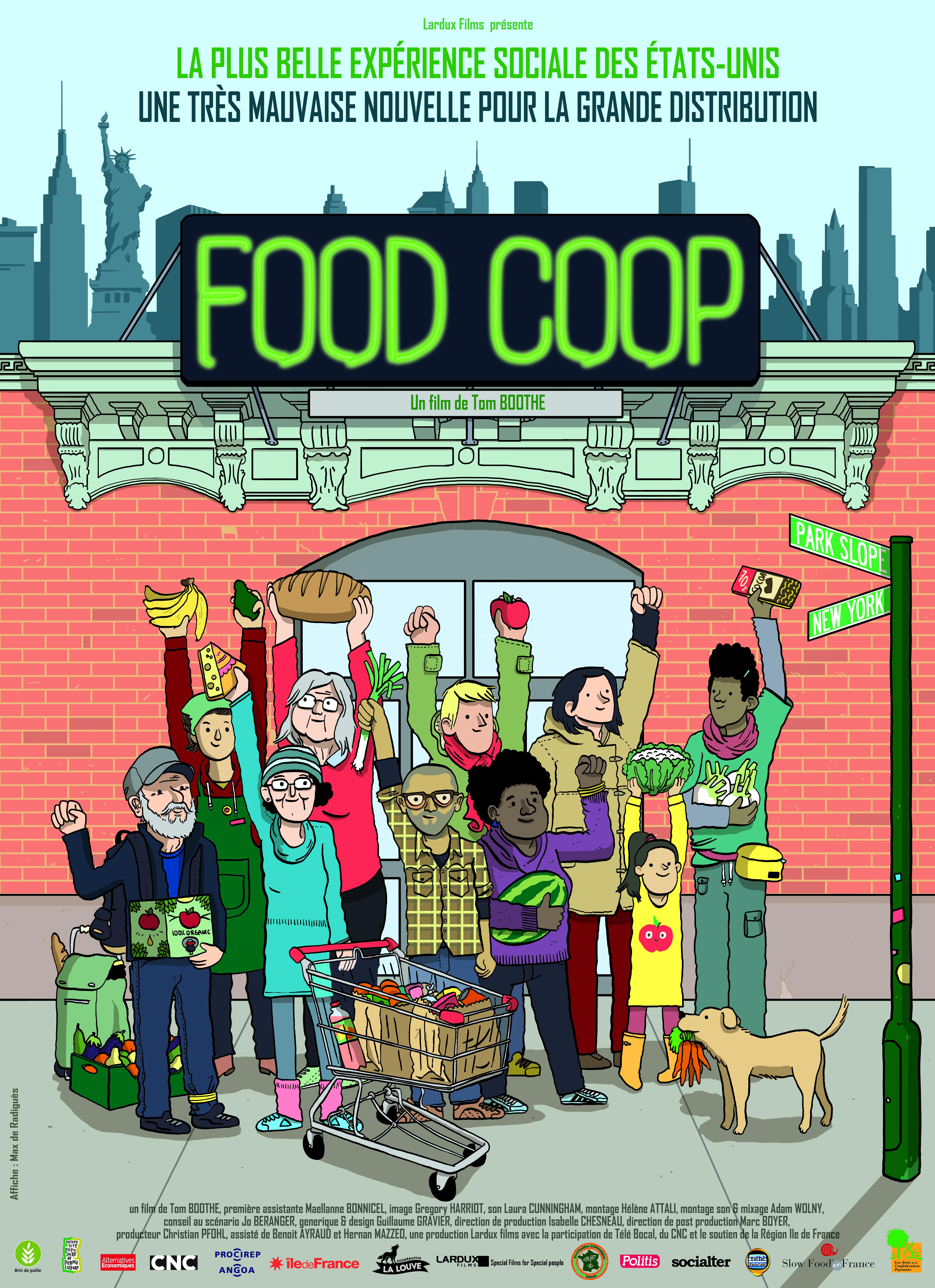 L'affiche du film Food Coop. Crédit foodcooplefilm.com.