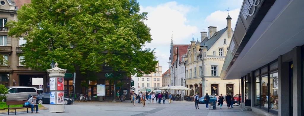 Le centre-ville de Tallinn. Crédit Camille Simonet.