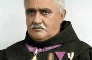 Père Gjergj Fishta, le religieux. Crédit Tekste Shqip.