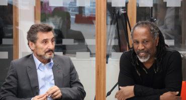 L'ex-footballeur et entrepreneur Jimmy Adjovi-Boco avec Mohed Altrad.