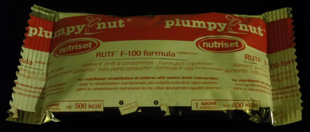 Un sachet de Plumpy'Nut®. Crédit Alexis Demoment.
