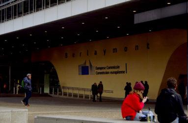 Entrée du Berlaymont, siège de la Commission européenne, Bruxelles.