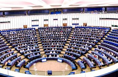 Hémicycle du Parlement européen, Strasbourg.