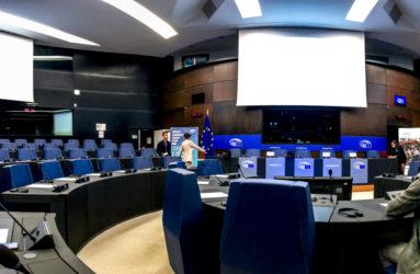 Salle de travail du Parlement européen, Strasbourg.
