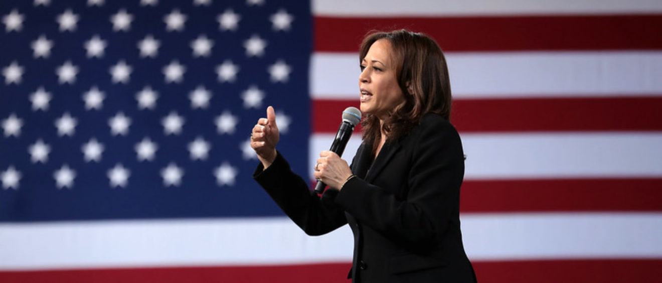 "Kamala Harris au ""National Forum on Wages and Working People"" en 2019 à Las Vegas, dans le Nevada"